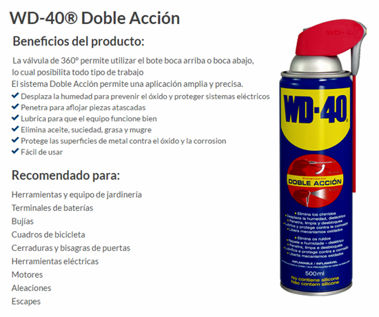ACEITE MULTIUSOS WD-40 500 ML