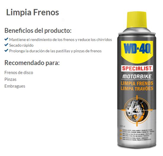 LIMPIADOR FRENOS WD-40 500 ML
