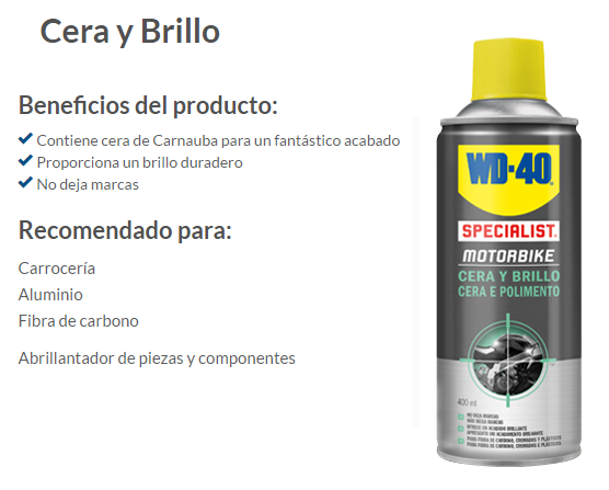 CERA Y BRILLO WD-40 400 ML.