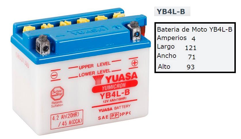 BATERIA YUASA YB 4 L B