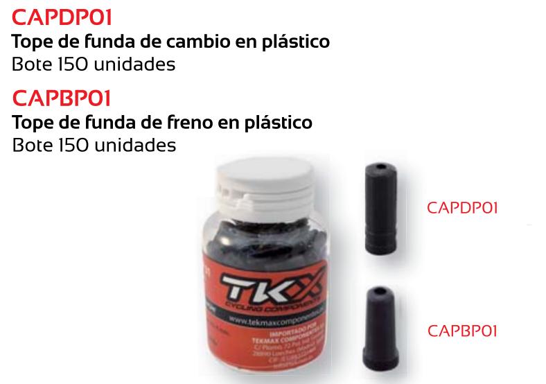 TOPE FUNDA CABLE FRENO BICICLETA TKX 5 MM PLASTICO (BOTE 150)