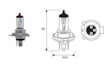 LAMPARA MOTO 12V 35W 35W HS1 HALOGENA