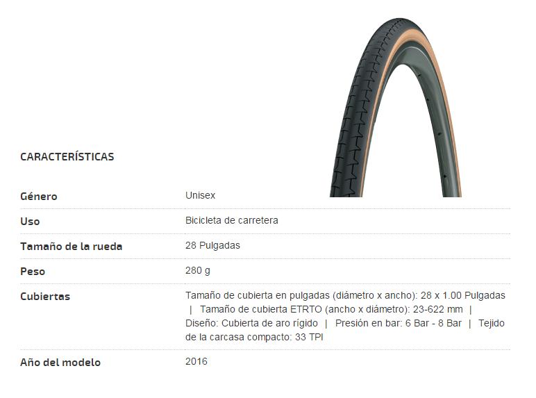CUBIERTA BICICLETA MICHELIN 700X23C DYNAMIC CLASSIC SW (translucent)