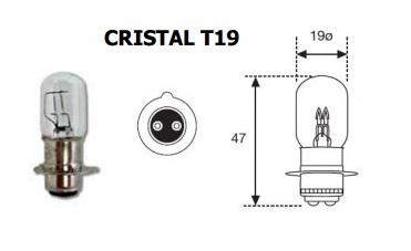 LAMPARA MOTO 12V 35W 35W P15D C/PLATO