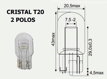 LAMPARA 12V 21W 5W S/C PILOTO HONDA